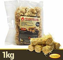 Firemax Feuerteufel 1 kg Kaminanzünder Feueranzünder Kamin Ofen Kaminofen