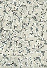 Firenze Teppich 300X400 Beige Grau Braun Blau Moderne Delicate bild blumen klassisch(GALICARPET)