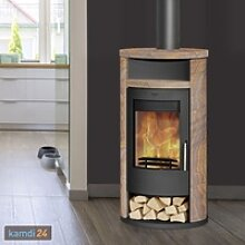 Fireplace Alicante Kaminofen Stahl Schwarz /