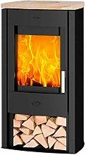 Fireplace K5733 Tuvalu Kaminofen Stahl Schwarz  