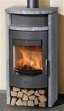 Fireplace Kaminofen Barcelona Speckstein 53x53x118