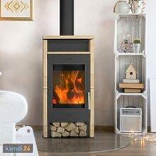 Fireplace Santiago Kaminofen Stahl Schwarz /
