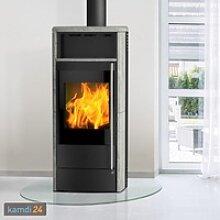 Fireplace Teramo Dauerbrandofen RLU Speckstein / A+