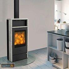 Fireplace Torino Dauerbrandofen Speckstein / A+