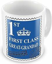 First Class Great Grandad, Geschenkidee, Blau