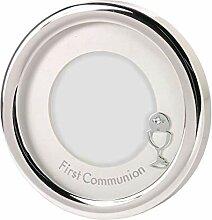 First Communion Silber Straffen Rund Bilderrahmen,