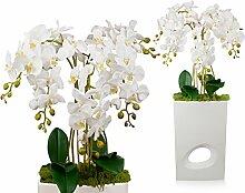 First Orchidee künstliche Blumen Übertopf