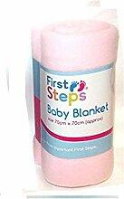 First Steps Weiche Babydecke, Vlies, waschbar,