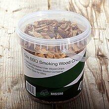 First4Spares Classic Eiche Rauchen Holz Chips für Fire Gruben BBQ ist & Raucher–1,25L wiederverschließbaren Dose für frische