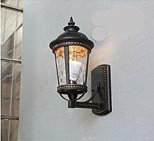 Firsthgus E27 Wandlampe Außenwandleuchte, regen