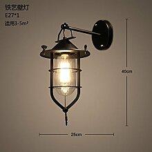 Firsthgus E27 Wandlampe Loft Retro Country