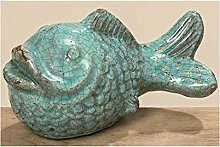 Fisch Fina L20cm türkis Terrakotta