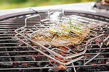 Fisch Grillzange Fischhalter Gemüsegrill