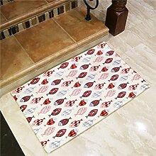 Fisch in Farbe cartoon Matten foyer Home bad Fußmatte Fußmatte streifen Wasser Wolldecke, 45 * 115 cm, gelb unten Fisch