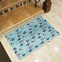 Fisch in Farbe cartoon Matten foyer Home bad Fußmatte Fußmatte streifen Wasser Wolldecke, 40 * 60 cm, blau unten Fisch Schule