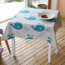 Fisch Tisch Tuch Baumwolle Bettwäsche–memorecool Haustierhaus Cartoon Lovely Design 100% Gesunden Erfahrung Best Geschenke 99,1x 139,7cm, baumwolle, Delfin, 55x79inch