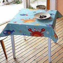 Fisch Tisch Tuch Baumwolle Bettwäsche–memorecool Haustierhaus Cartoon Lovely Design 100% Gesunden Erfahrung Best Geschenke 99,1x 139,7cm, baumwolle, Krebs, 39x55inch