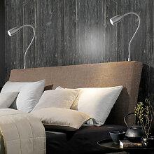 Fischer&honsel - LED Bettleuchte Sten in Nickel 5W