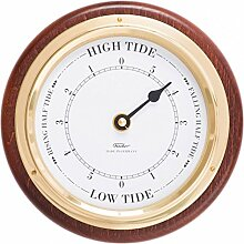 Fischer Tide Uhr mit Single Zifferblatt, Mahagoni