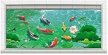 Fischteich 3d Boden Aufkleber Für Kinderzimmer