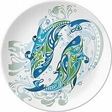 Fish Wellen Sea Animal Porzellan Dekoration