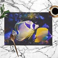fishappleeatall Tischsets 6er Set, mehrfarbige