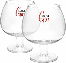 Fishbowl FISCHGLAS Kristall Gin-Glas, transparent,