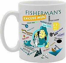 Fisherman Ausrede Fun Witz Funny Tasse Kaffee