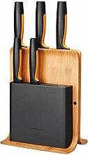 Fiskars Bambus Design-Messerblock mit 5 Messern,