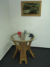 fitalia Rattantisch mit Glasplatte J34060 Farbe