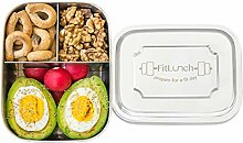 FitLunch Edelstahl Brot-Dose I Lunch-Box I