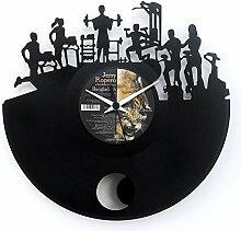 Fitness Uhr für Fitnessstudio Geschenkidee Vinyl