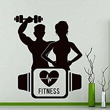 Fitness Wandtattoos Sport Gym Training Yoga Raum