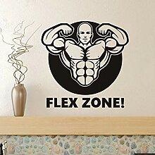 Fitnessstudio Muskel Mann Aufkleber Flex Zone