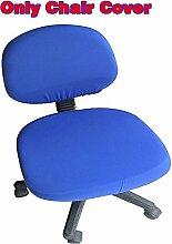 fittoway Elastischer Universal-Computerschreibtischstuhl-Bezug, drehbar, einfarbiger Stuhl-Bezug königsblau