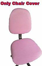 fittoway Elastischer Universal-Computerschreibtischstuhl-Bezug, drehbar, einfarbiger Stuhl-Bezug rose
