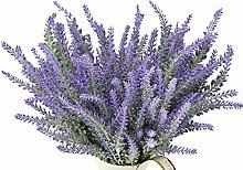 FiveSeasonStuff® 10 Bündel 38cm Künstliche Lavendel Blumen Sträuße, Hochzeit Braut Party Haus Geschäft Bürodekoration DIY Blumenarrangement Dekor (Lila)