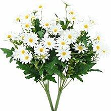 FiveSeasonStuff 2 Stück 36cm (14.2 inches) Künstliche Weiß Gänseblümchen Blumen & Sträuße, Hochzeit, Braut, Party, Haus, Geschäft, Büro Dekor, DIY Floral Arrangement Dekoration
