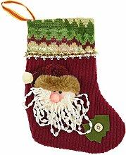 FiveSeasonStuff® 3D Nikolausstiefel / Wählen Weihnachtsmann, Schneemann und Ren / 3D Christmas Stockings Choose Santa Claus, Snowman and Reindeer (3D Weihnachtsmann Weihnachten Nikolausstiefel (20x12cm) Stil#3 HJ54)