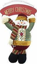 FiveSeasonStuff Weihnachtsdekoration / Christmas Ornaments / Weihnachten Hängend / Türgriff Ornamente / Dekoration für Weihnachten Urlaubsparty Festliche Haus Décor (Schneemann Feder Hängen Board 24 x 36 x 5.5cm)