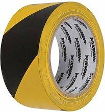 Fixman entwickelten Werkzeuge BUL990 Warntafel [] (umweltfreundlich verpackt), 50 mm x 33 m, gelb/Black (Bulk-Format, 25 Stück, Innendurchmesser ® Min Cleva Garantie