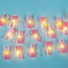 Fizz Creations Prosecco Mini-Lichterkette, Pink
