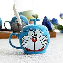 FJDISQ Becher kreatives Paar Keramikbecher mit