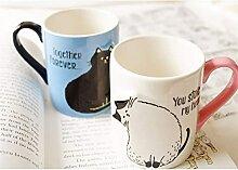 FJDISQ Tasse 2 -STCK Kaffee Paare handgemachte