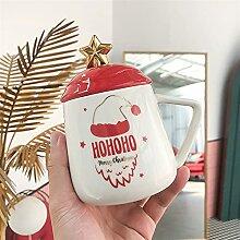 FJDISQ Tasse Weihnachtskeramik Tassen Kaffee