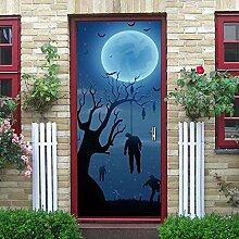 FJSZ Halloween Dekoration Türaufkleber 3D