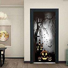 FJSZ Halloween Dekoration Türbilder Selbstklebend