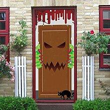 FJSZ Halloween Dekoration Türtapete Selbstklebend