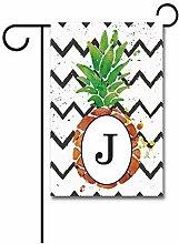 FJXXM Garten Flagge,Ananas Mit
