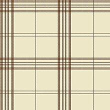 fk34400–Küche Frische kontrolliert Tapete Galerie Tartan Braun Creme